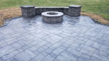 Stone Tiles, Wall and Firepit